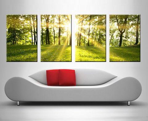 sunlit meadows 4 panel wall art print on canvas australia
