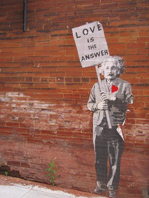 Love is the answer einstein artwork Australia