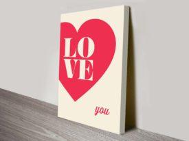 inspirational Love word art