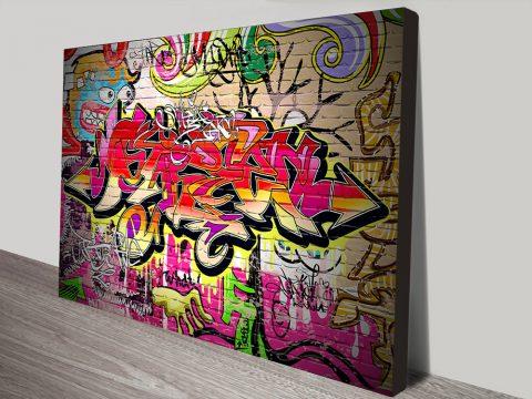 Buy Graffiti Canvas Art Print Melbourne