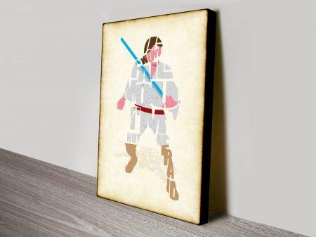 Luke Skywalker Typographic Star Wars Art