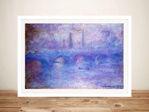 Claude Monet - Waterloo Bridge Classic Art Prints