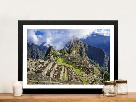 Machu Picchu Canvas Wall Print