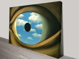 The False Mirror Magritte Canvas Print