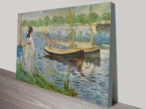 His Embankment At Argenteuil Classical Art Print