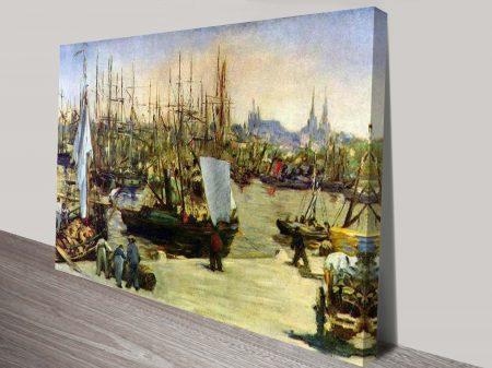 Port of Bordeaux, Manet Classical Art Print