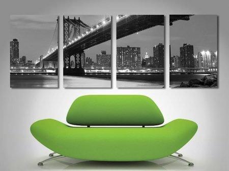 Manhattan Bridge 4 panel Art