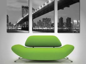 Manhattan Bridge Triptych Art