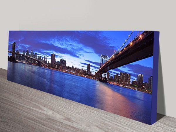 Manhattan Skyline Panoramic Art