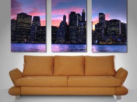 Manhattan skyline split canvas art