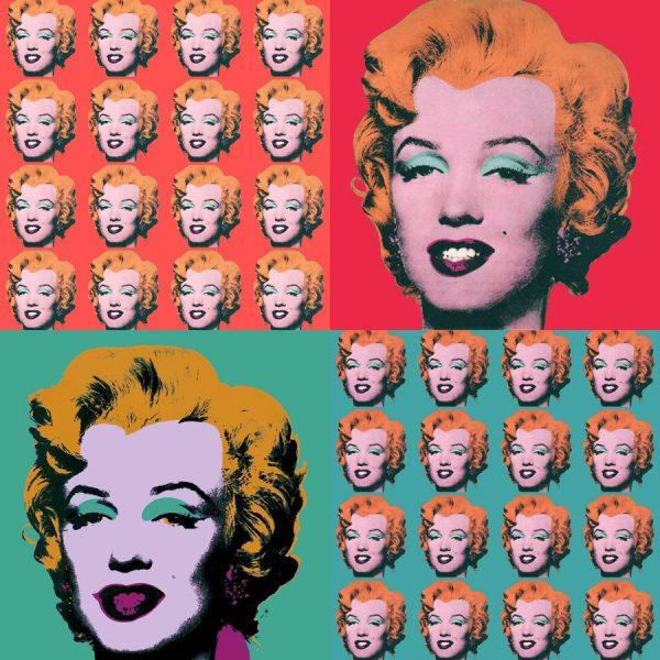 Marilyn Monroe Warhol Collage Wall Art