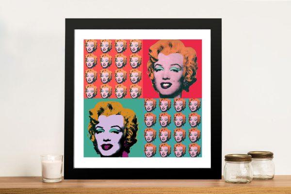 Marilyn Monroe Warhol-Collage Framed Wall Art Prints