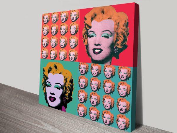 Marilyn Monroe Warhol Collage Canvas Print Au
