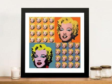 Marilyn Monroe Warhol Collage Framed Wall Art