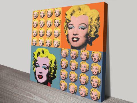 Warhol Marilyn Monroe Collage canvas print