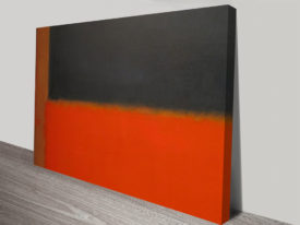 Mark Rothko Green and Tangerine on Red Print