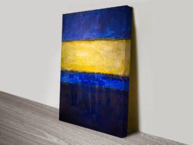 Mark Rothko Modern Art Blue and Yellow Painting Print