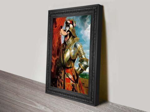 Markus Pilgrim goofy canvas print