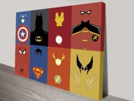 Marvel Characters Wall Art