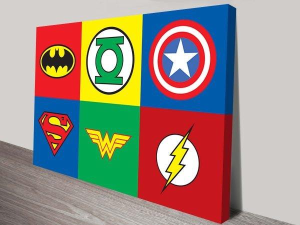 Marvel Comic-Symbols Landscape Format
