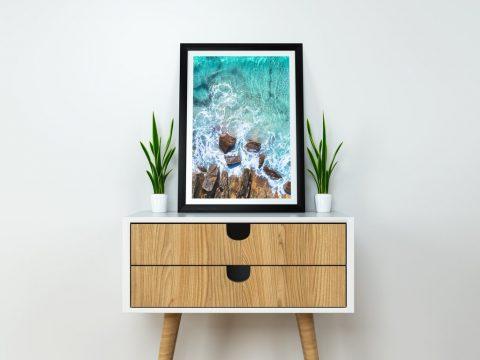 Meelup Rocks Matt Day Ocean Frame Art Print
