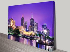 Melbourne Cityscape Canvas Print Australia