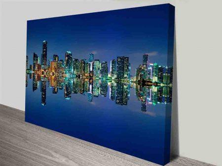 midtown miami skyline wall art canvas print australia