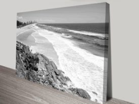 Miami Beach Queensland Black and White Collection Landscape Canvas Prints