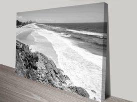 Miami Beach Queensland Black and White Collection Landscape Canvas Prints