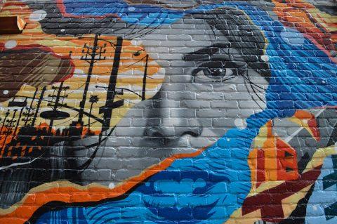 Michigan Radio Graffiti Canvas Print