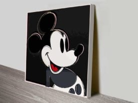 Mickey Mouse Iconic Pop Art Wall Canvas