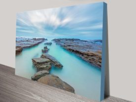 Misty Pathway Ocean Scene Canvas Print