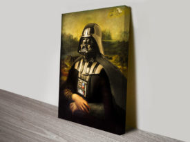Mona Lisa Darth Vader Canvas Print