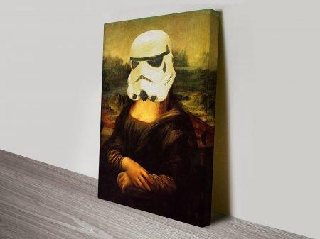 Mona Lisa Stormtrooper Star Wars Art