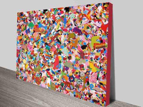 Modern Art Canvas Print Australia