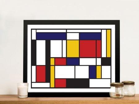 Mondrian Tableau I Framed Wall Art Print