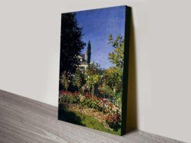 Monet Garden In Flower At Sainte Adresse Classical Wall Art on Canvas