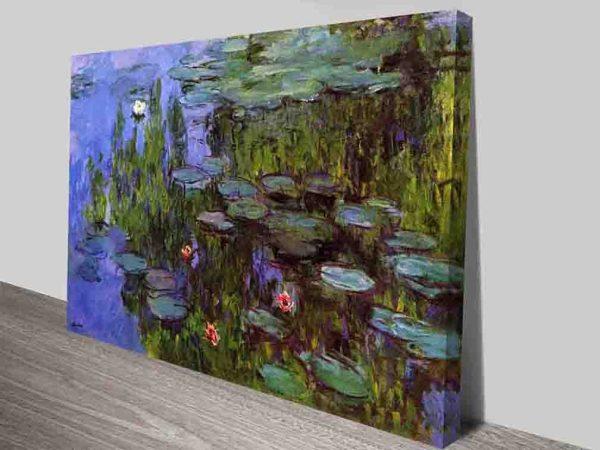 Monet Sea Roses Canvas Wall Art