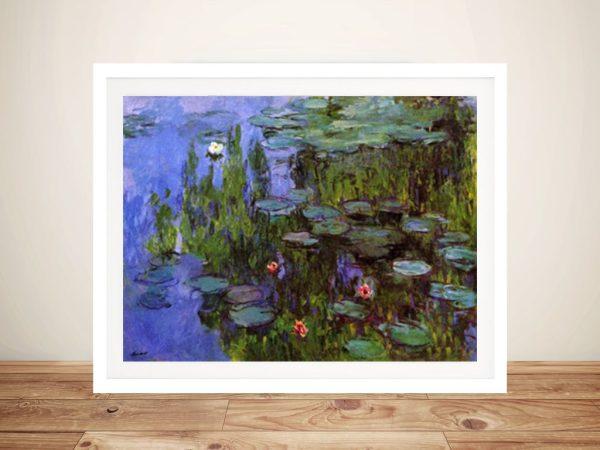 Monet Sea Roses Framed Picture Art
