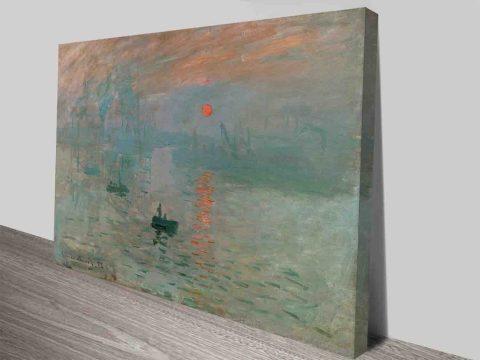 Claude Monet Impression Sunrise Canvas Print