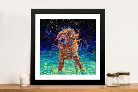 Moonlight Swim Iris Scott Framed Wall Art