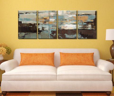 Morning Haze 4 Piece Artwork Prints On Canvas