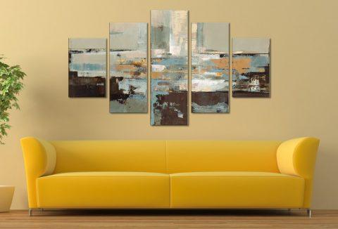 Morning Haze - Silvia Vassileva Five Panel Canvas Wall Art