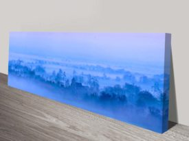 Morning Mist Blue Wall Artwork
