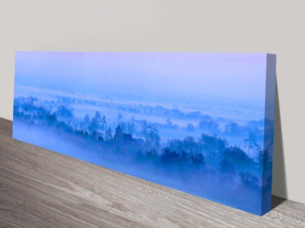Morning Mist Blue Wall Artwork