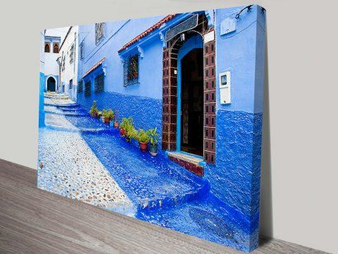 Morocco Doorways Photo Canvas Print