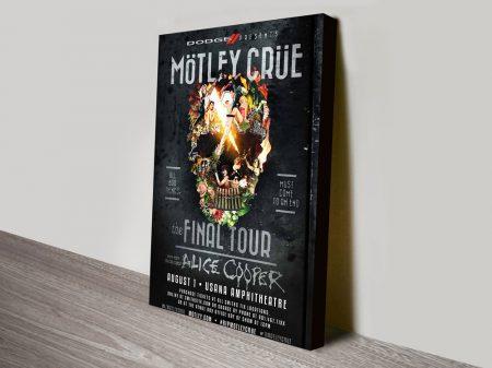 Motley Crue Concert Poster