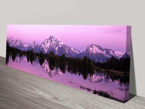 Mountain dawn panoramic canvas print