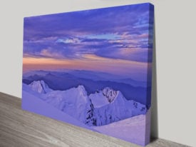 Mountain views canvas print