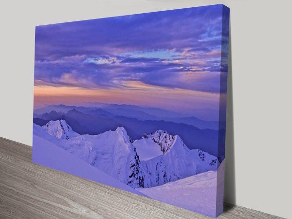 Mountain views canvas print